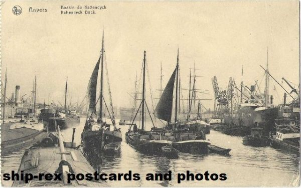 Antwerp (Belgium) port, postcard (e)